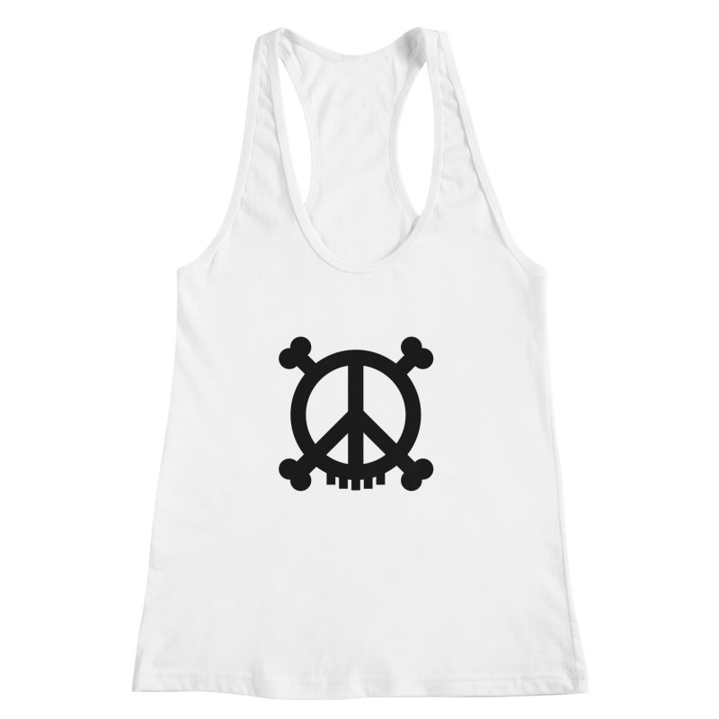 Peaceful Pirate : My Logo (black) Women's Racerback Tank by Stephen Petronis's Shop