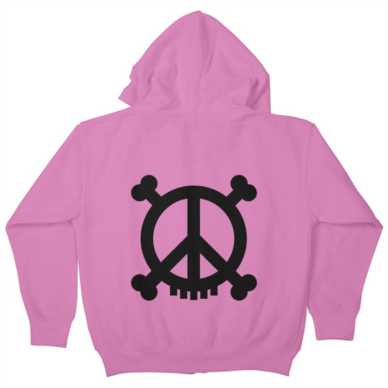 Peaceful Pirate : My Logo (black) Kids Zip-Up Hoody by Stephen Petronis's Shop