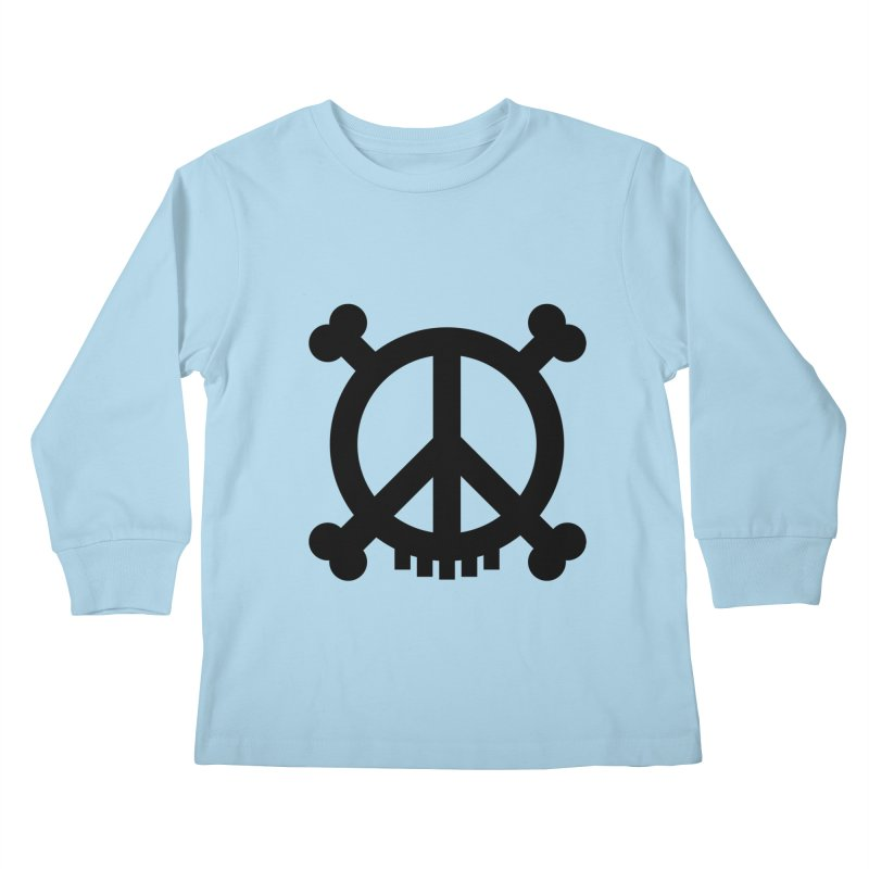 Peaceful Pirate : My Logo (black) Kids Longsleeve T-Shirt by Stephen Petronis's Shop