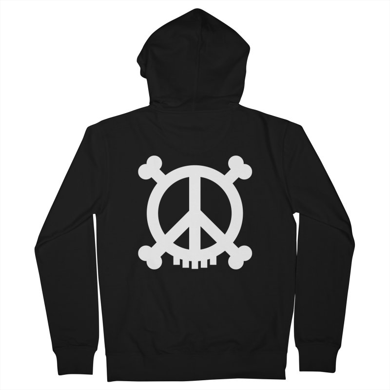 Peaceful Pirate : My Logo (white) Women's Zip-Up Hoody by Stephen Petronis's Shop