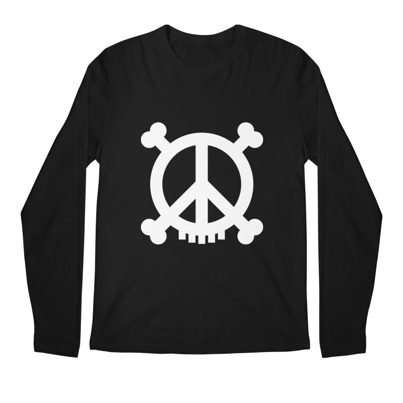 Peaceful Pirate : My Logo (white) Men's Longsleeve T-Shirt by Stephen Petronis's Shop