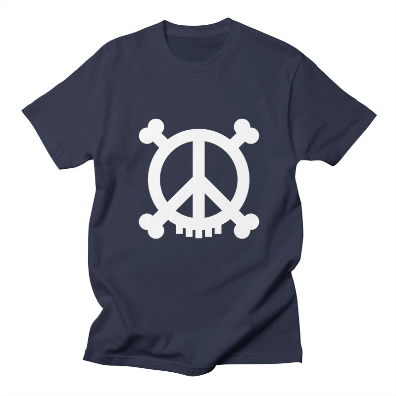 Peaceful Pirate : My Logo (white) Men's T-shirt by Stephen Petronis's Shop