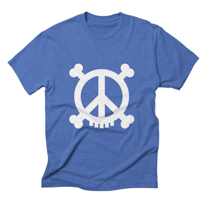 Peaceful Pirate : My Logo (white) Men's Triblend T-Shirt by Stephen Petronis's Shop