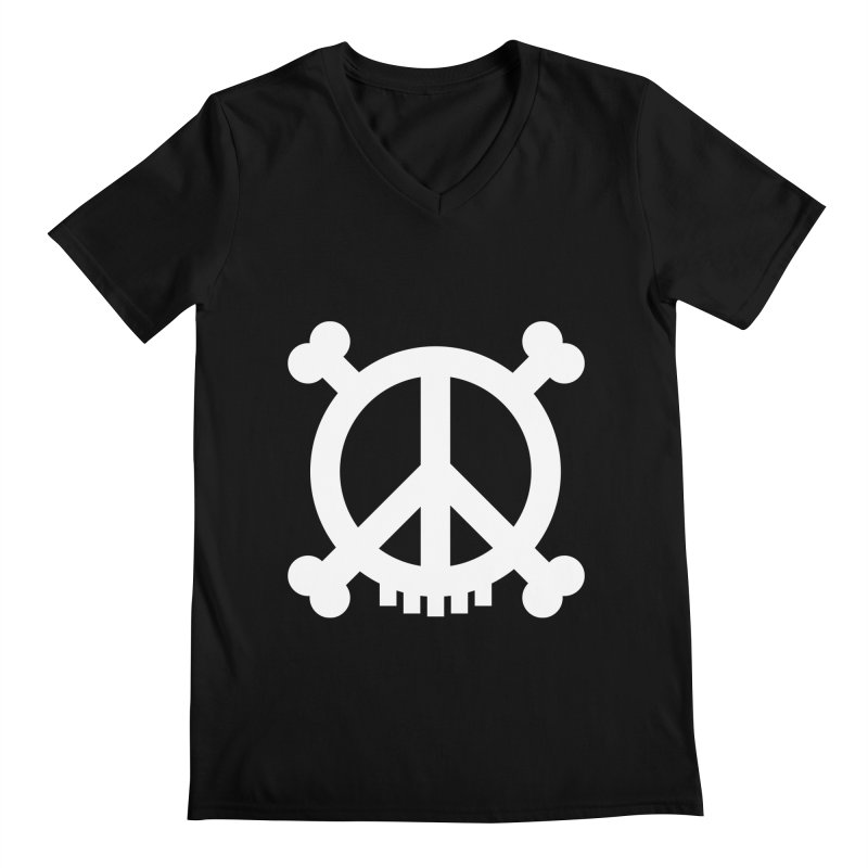 Peaceful Pirate : My Logo (white) Men's V-Neck by Stephen Petronis's Shop