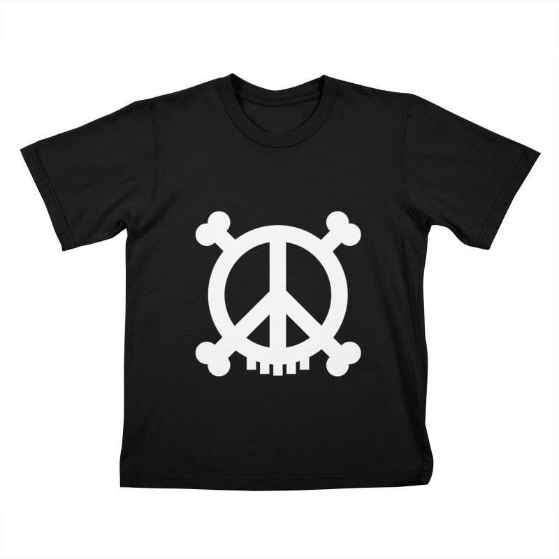Peaceful Pirate : My Logo (white) Kids T-shirt by Stephen Petronis's Shop