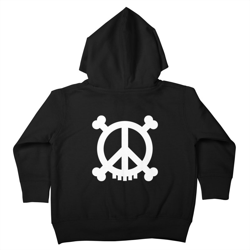 Peaceful Pirate : My Logo (white) Kids Toddler Zip-Up Hoody by Stephen Petronis's Shop