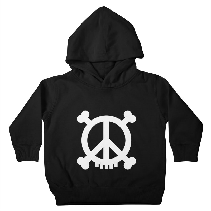 Peaceful Pirate : My Logo (white) Kids Toddler Pullover Hoody by Stephen Petronis's Shop