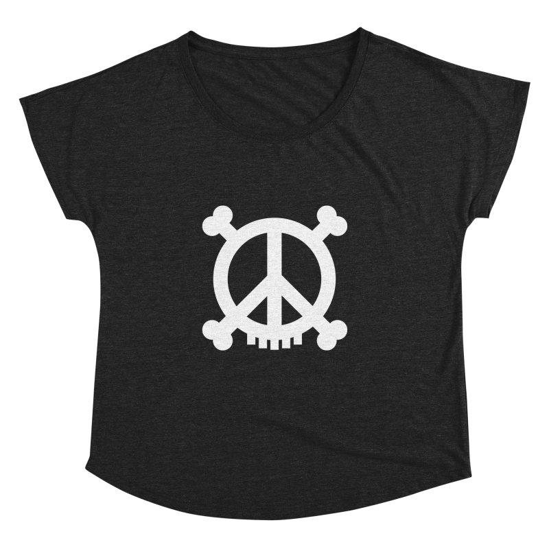 Peaceful Pirate : My Logo (white) Women's Dolman by Stephen Petronis's Shop