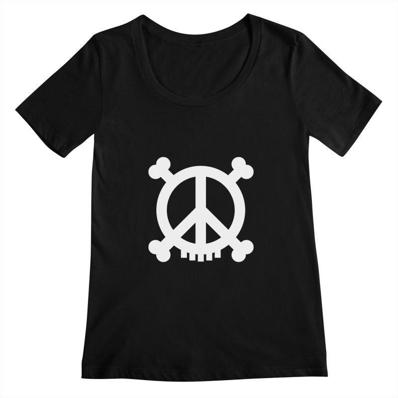 Peaceful Pirate : My Logo (white) Women's Scoopneck by Stephen Petronis's Shop