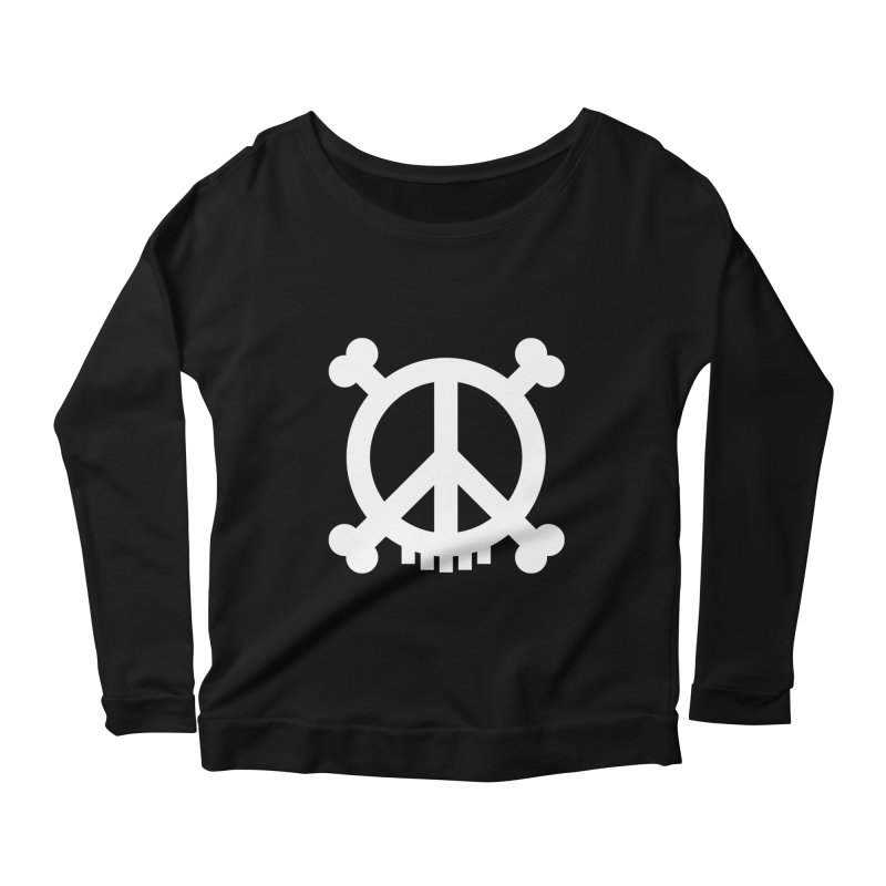 Peaceful Pirate : My Logo (white) Women's Longsleeve Scoopneck  by Stephen Petronis's Shop