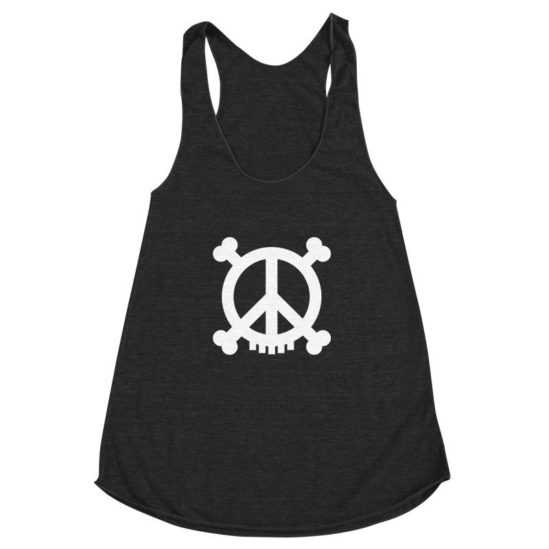 Peaceful Pirate : My Logo (white) Women's Racerback Triblend Tank by Stephen Petronis's Shop