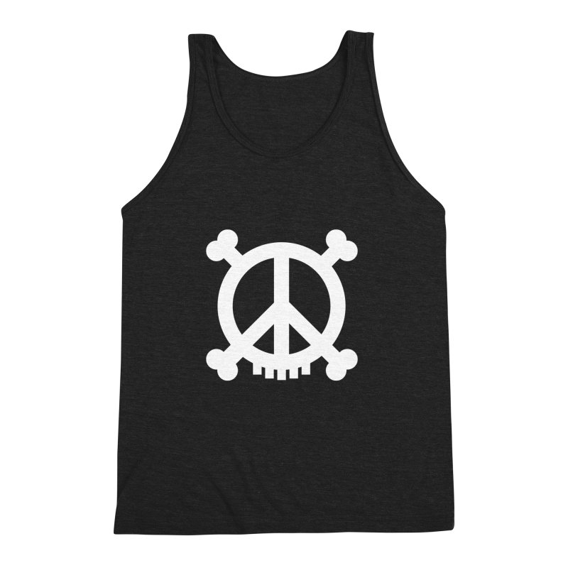 Peaceful Pirate : My Logo (white) Men's Triblend Tank by Stephen Petronis's Shop