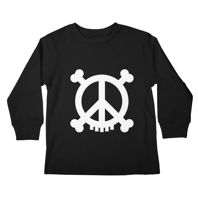 Peaceful Pirate : My Logo (white) Kids Longsleeve T-Shirt by Stephen Petronis's Shop