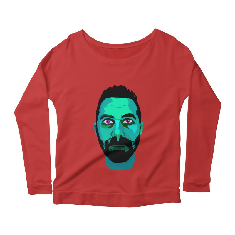 Eric's Face Women's Longsleeve Scoopneck  by Stephen Petronis's Shop