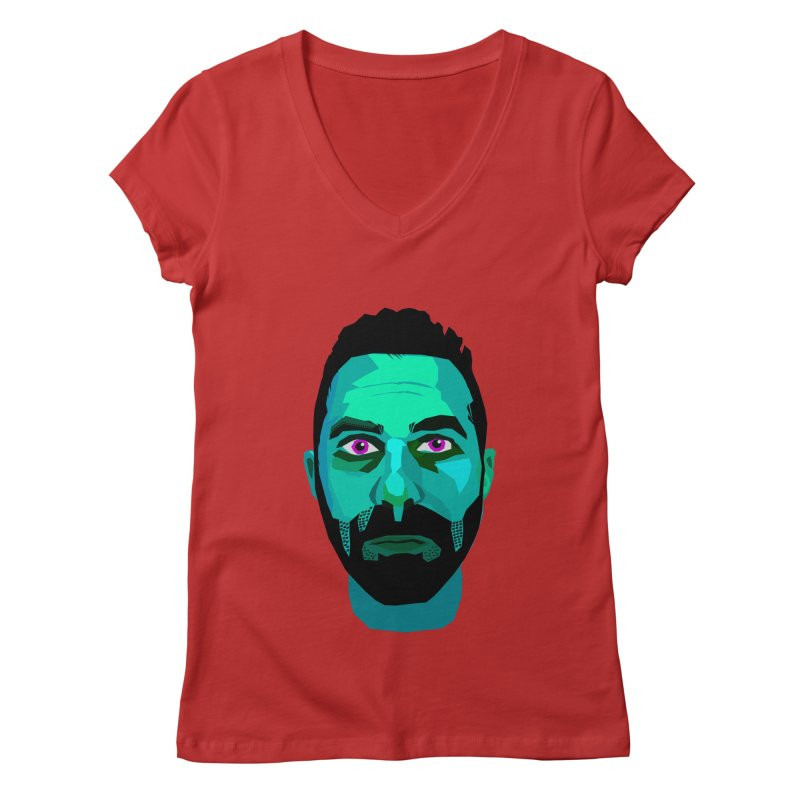 Eric's Face Women's V-Neck by Stephen Petronis's Shop