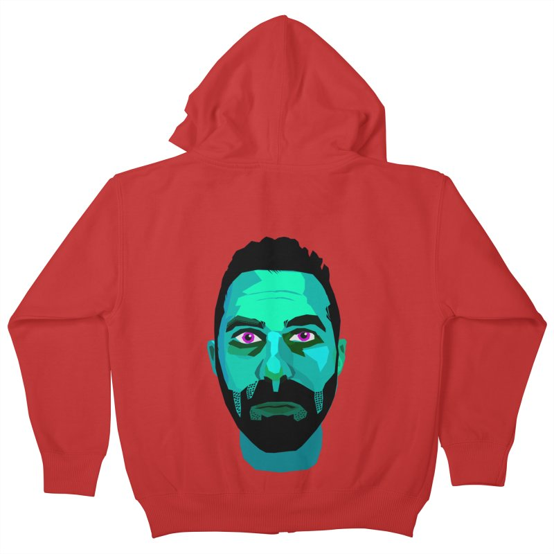 Eric's Face Kids Zip-Up Hoody by Stephen Petronis's Shop