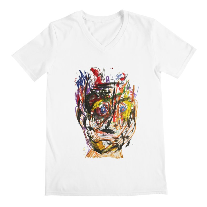 Scribble Scrabble Men's V-Neck by Stephen Petronis's Shop