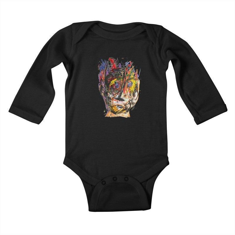 Scribble Scrabble Kids Baby Longsleeve Bodysuit by Stephen Petronis's Shop