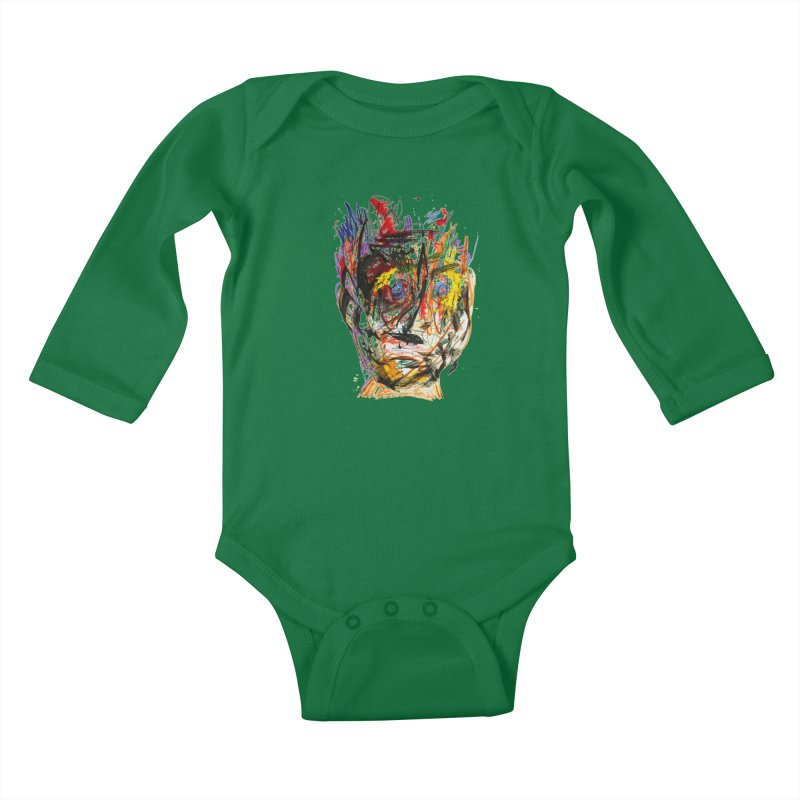 Scribble Scrabble Kids Baby Longsleeve Bodysuit by Stephen Petronis's Shop