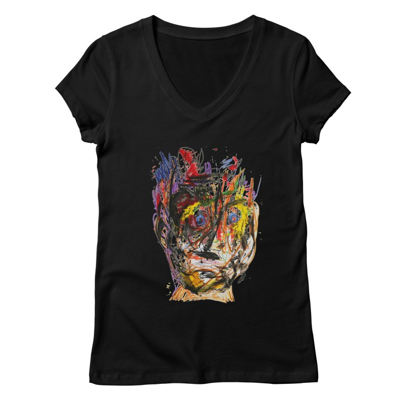 Scribble Scrabble Women's V-Neck by Stephen Petronis's Shop