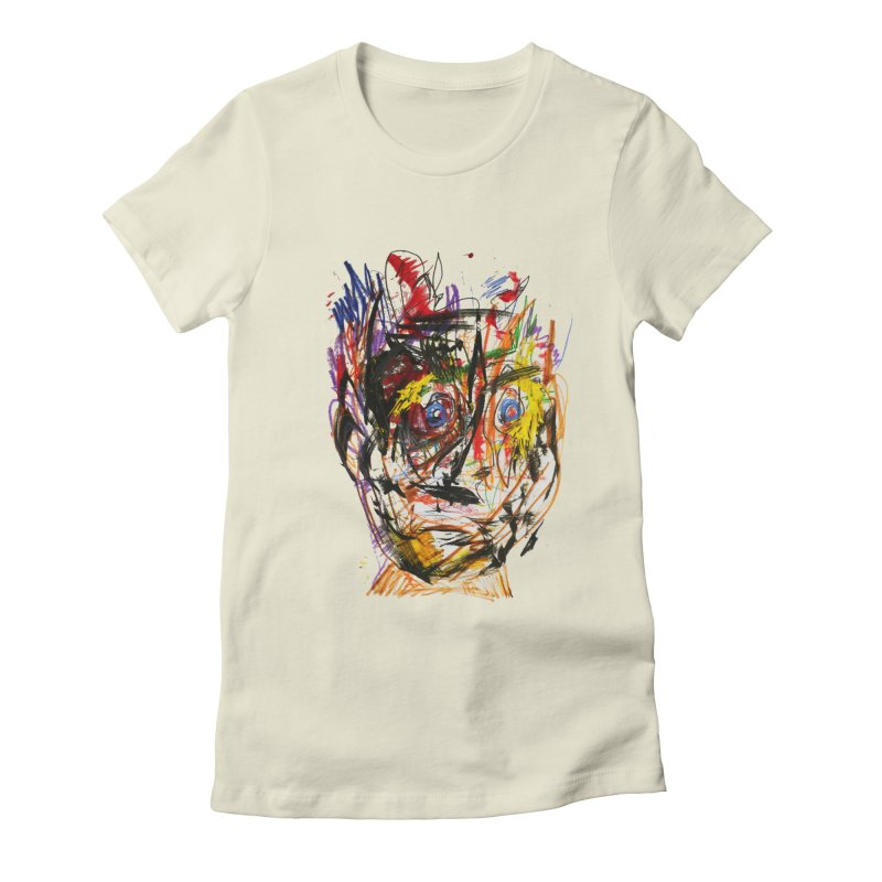 Scribble Scrabble Women's Fitted T-Shirt by Stephen Petronis's Shop