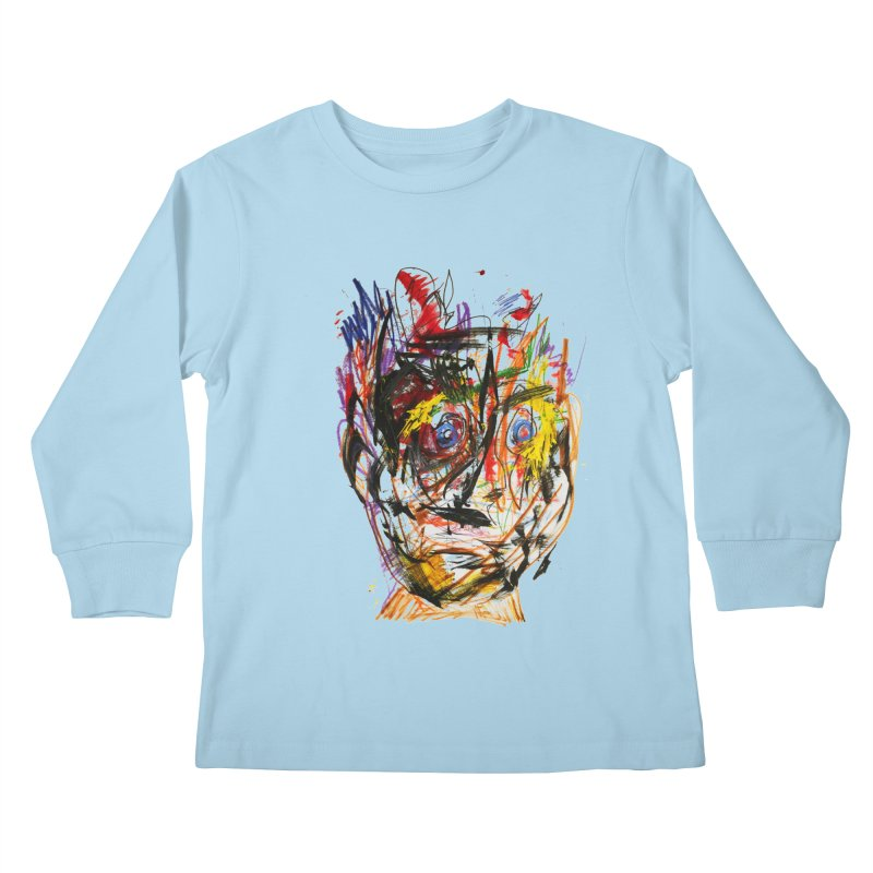 Scribble Scrabble Kids Longsleeve T-Shirt by Stephen Petronis's Shop