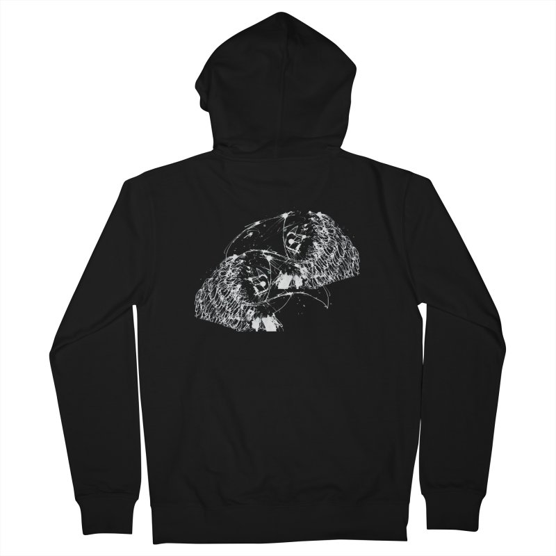 Birds OF a Feather (white) Men's Zip-Up Hoody by Stephen Petronis's Shop