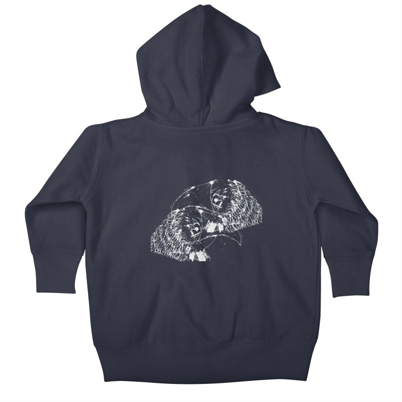Birds OF a Feather (white) Kids Baby Zip-Up Hoody by Stephen Petronis's Shop