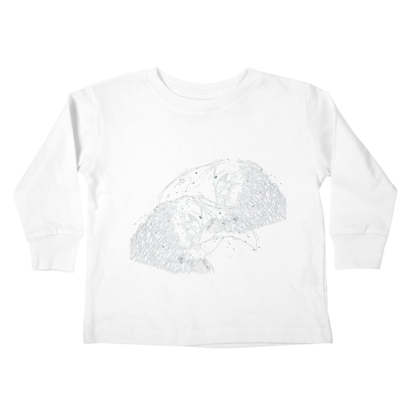 Birds OF a Feather (white) Kids Toddler Longsleeve T-Shirt by Stephen Petronis's Shop