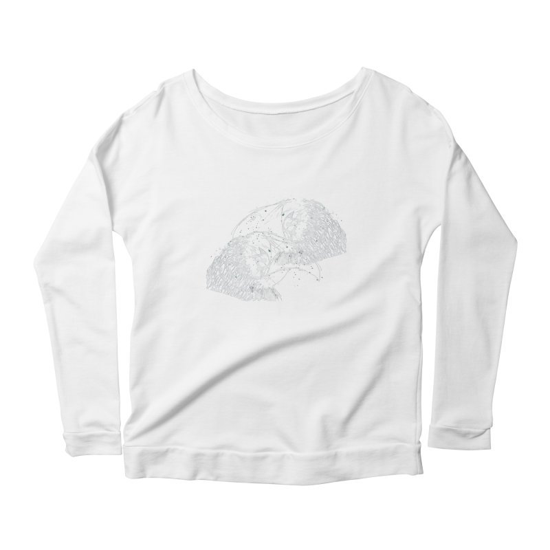 Birds OF a Feather (white) Women's Longsleeve Scoopneck  by Stephen Petronis's Shop
