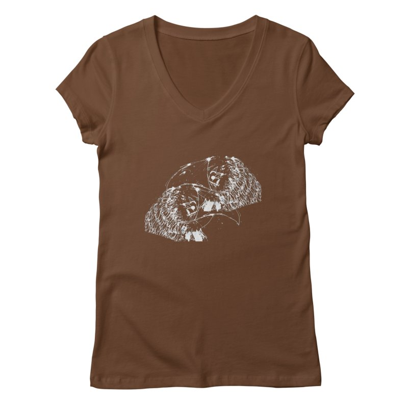 Birds OF a Feather (white) Women's V-Neck by Stephen Petronis's Shop