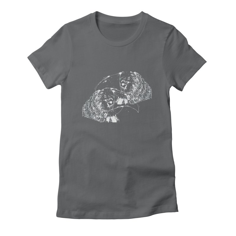 Birds OF a Feather (white) Women's Fitted T-Shirt by Stephen Petronis's Shop