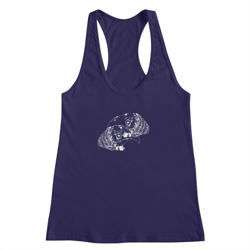 Birds OF a Feather (white) Women's Racerback Tank by Stephen Petronis's Shop