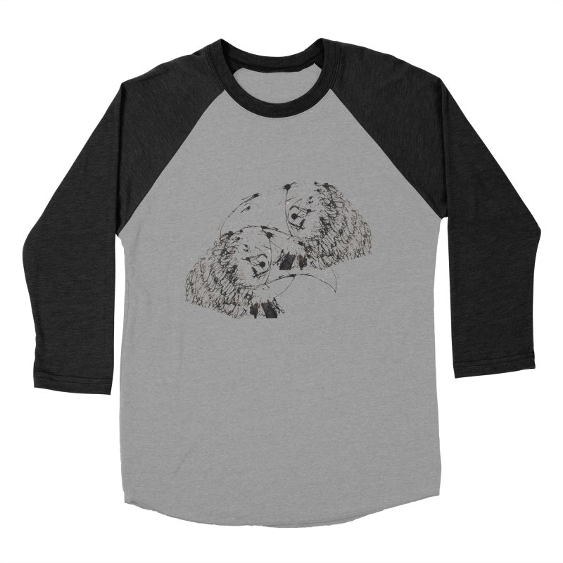 Birds Of A Feather (black) Men's Baseball Triblend T-Shirt by Stephen Petronis's Shop