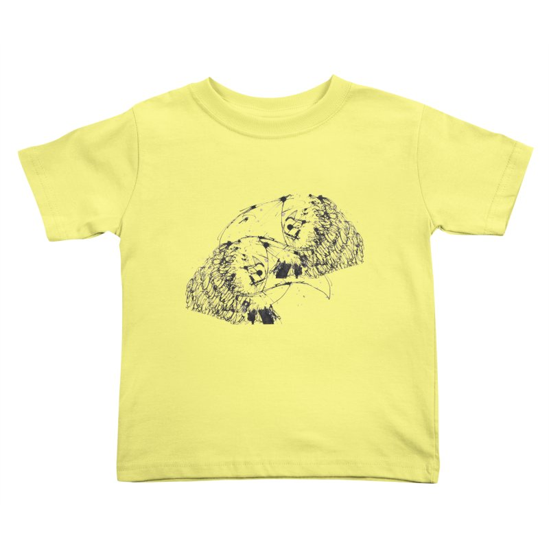 Birds Of A Feather (black) Kids Toddler T-Shirt by Stephen Petronis's Shop
