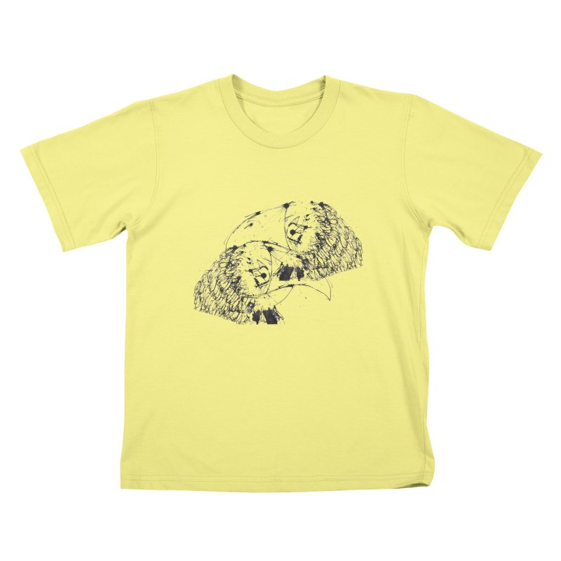 Birds Of A Feather (black) Kids T-shirt by Stephen Petronis's Shop