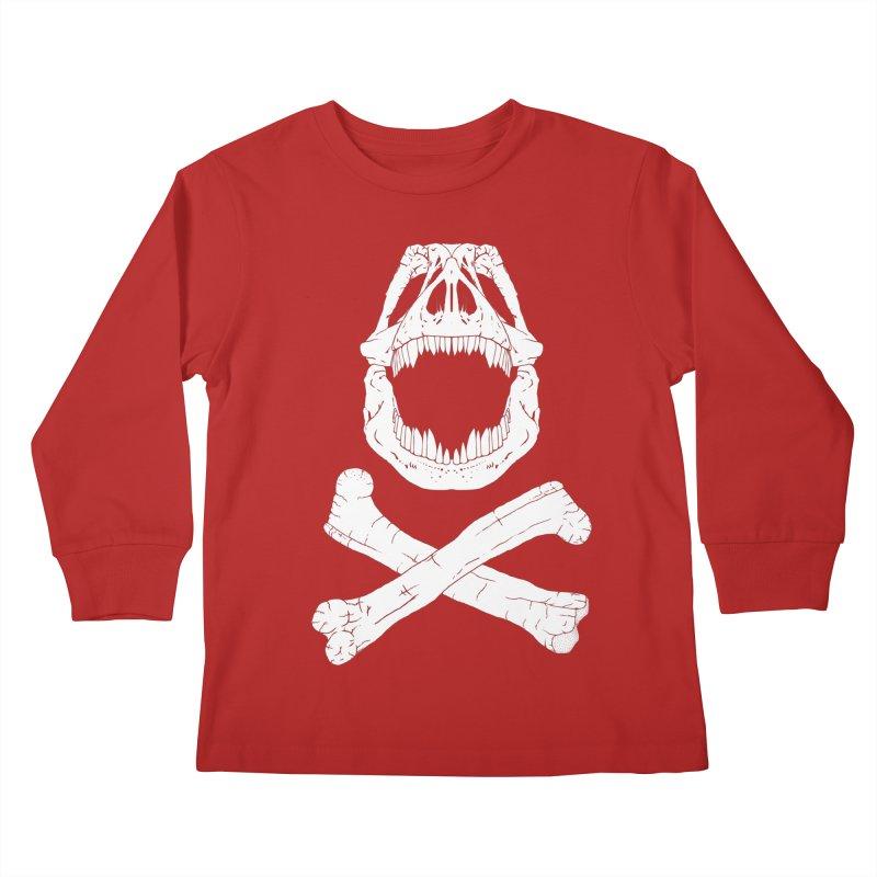 Jolly Rex Kids Longsleeve T-Shirt by Ganto's Artist Shop