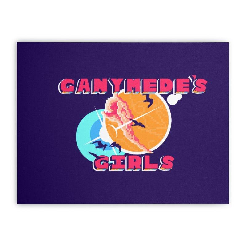 GG Logo Basic Home Stretched Canvas by ganymedesgirlscommunity's Artist Shop