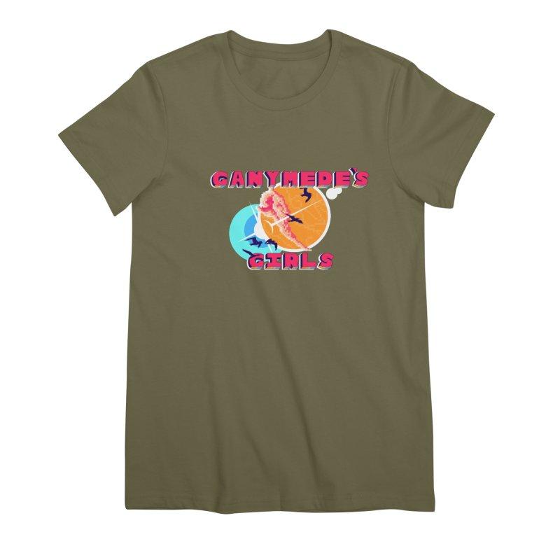 GG Logo Basic Apparel Women's Premium T-Shirt by ganymedesgirlscommunity's Artist Shop