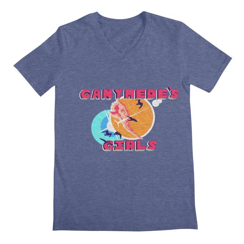 GG Logo Basic Apparel Men's Regular V-Neck by ganymedesgirlscommunity's Artist Shop