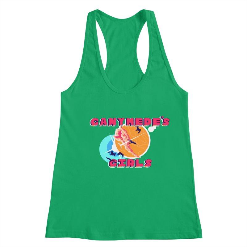 GG Logo Basic Apparel Women's Racerback Tank by ganymedesgirlscommunity's Artist Shop