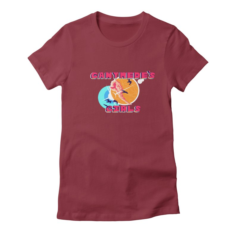 GG Logo Basic Apparel Women's Fitted T-Shirt by ganymedesgirlscommunity's Artist Shop