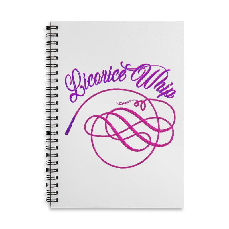 Licorice Whip Accessories Lined Spiral Notebook by ganymedesgirlscommunity's Artist Shop