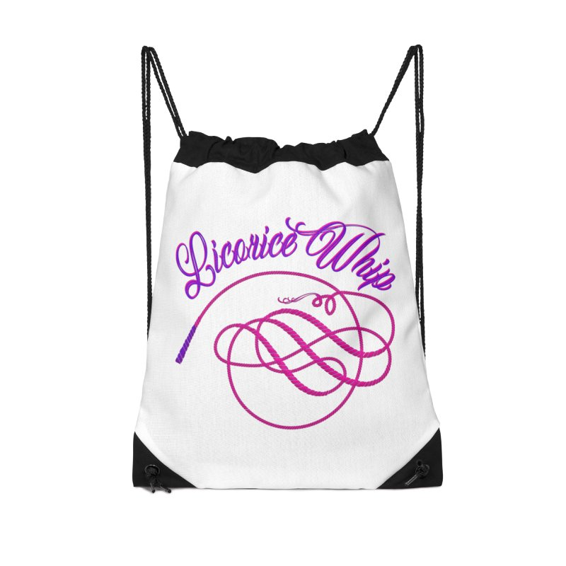 Licorice Whip Accessories Drawstring Bag Bag by ganymedesgirlscommunity's Artist Shop