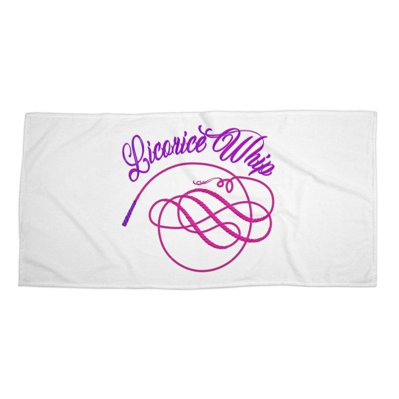Licorice Whip Accessories Beach Towel by ganymedesgirlscommunity's Artist Shop