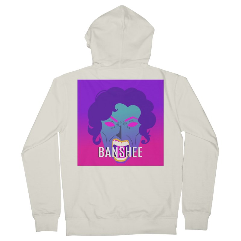 Banshee Men's French Terry Zip-Up Hoody by ganymedesgirlscommunity's Artist Shop