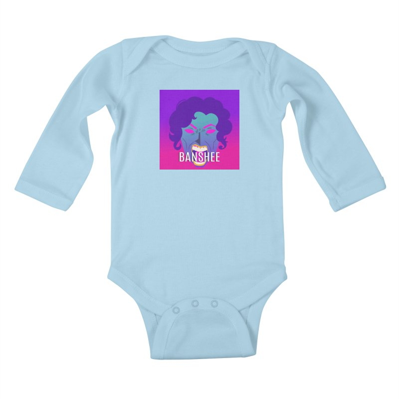 Banshee Kids Baby Longsleeve Bodysuit by ganymedesgirlscommunity's Artist Shop
