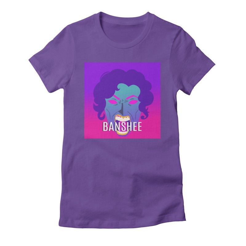 Banshee Women's Fitted T-Shirt by ganymedesgirlscommunity's Artist Shop