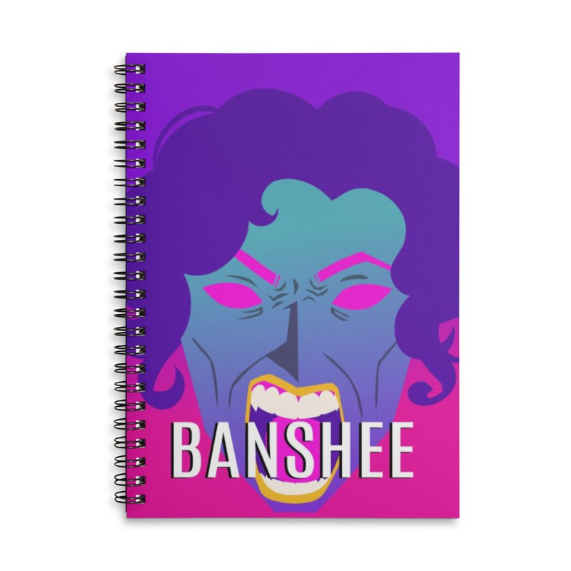 Banshee Accessories Lined Spiral Notebook by ganymedesgirlscommunity's Artist Shop