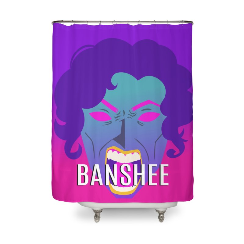 Banshee Home Shower Curtain by ganymedesgirlscommunity's Artist Shop